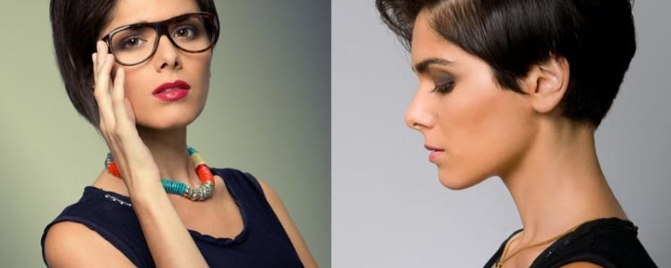 Cute Short Hairstyles For Oval Faces With Glasses